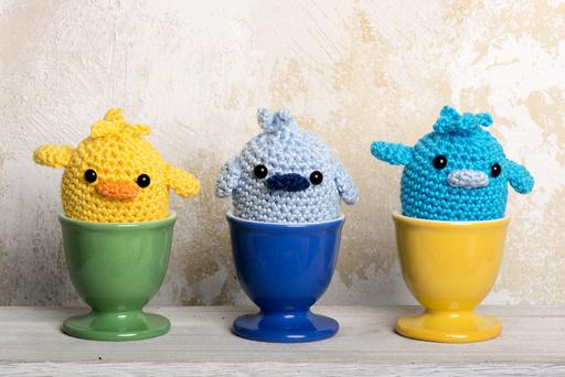 Crocheted chicks
