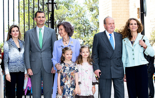 Spanish Royal family attends Easter Sunday mass