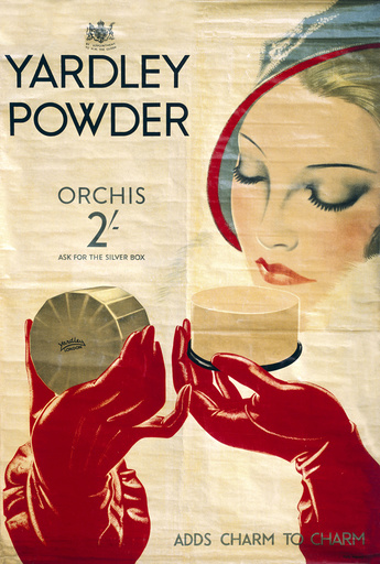Poster advertising Yardley powder