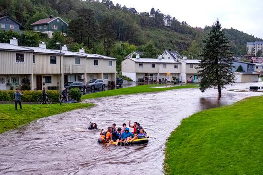 Mye regn lager trøbbel pSørlandet.