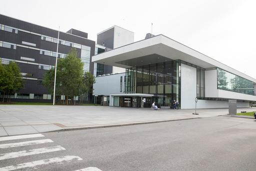 Hovedinngangen ved Ahus (Akershus universitetssykehus). Illustrasjonsfoto: Terje Pedersen / NTB scanpix