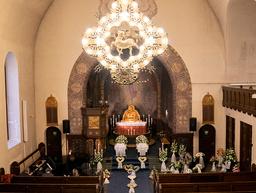 Gravferden for Lisbeth Neraas (54) og sønnen Marius Brustad fant sted i Bekkelaget kirke i Oslo onsdag. De var to av de sju som mistet livet i kvikkleireskredet i Gjerdrum 30. desember. Foto: Torstein Bøe / NTB / POOL