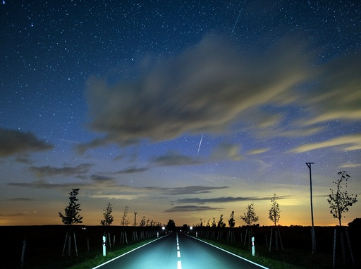 Perseids meteor shower streaks across Brandenburg night sky