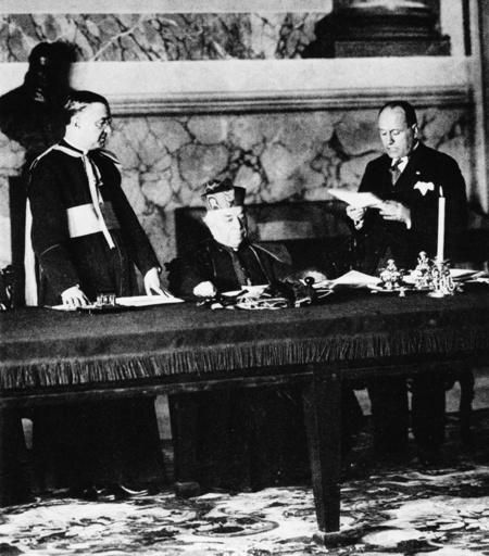 Vertragsunterzeichnung Lateranverträge - Signing of the Lateran Treaty 11.02.1929 -