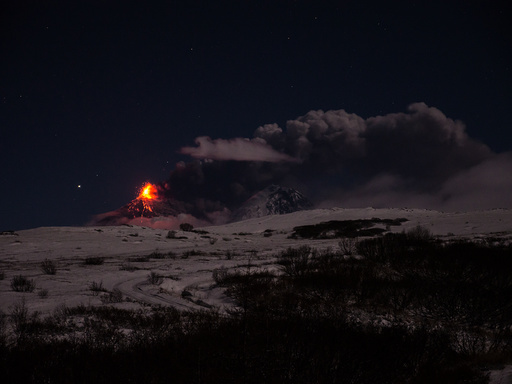 Volcano Klyuchevskoy on Kamchatka