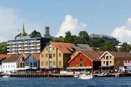 Tønsberg (bildet) og Horten har nå sine største smitteutbrudd så langt i pandemien. Foto: Terje Bendiksby / NTB