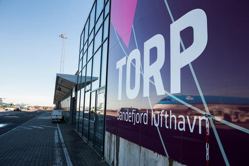 Flyplassen på Torp i Sandefjord er hardt rammet av koronapandemien. Foto: Berit Roald / NTB scanpix
