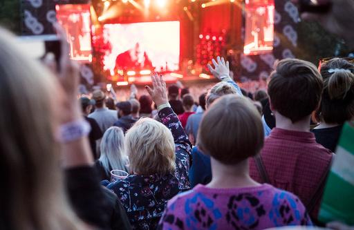 Erna Solberg besøker Øyafestivalen