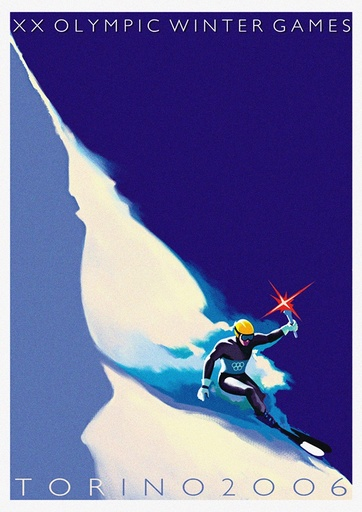Official poster for the XX Olympic Winter Games 2006 in Turin. Artist: Riboli, Stefano