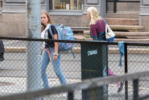 Prinsesse Ingrid Alexandra har sin første dag på Uranienborg skole