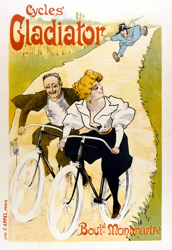 Poster design for Gladiator Cycles