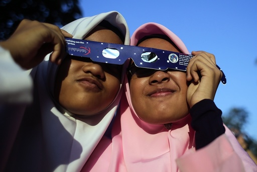 Partial solar eclipse In Malaysia