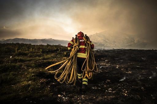 Forest fire in Vila do Soajo