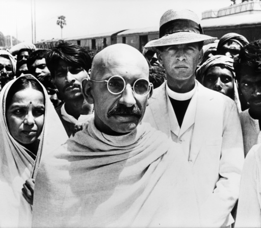 Ben Kingsley als 'Gandhi' - Ben Kingsley as 'Gandhi' -