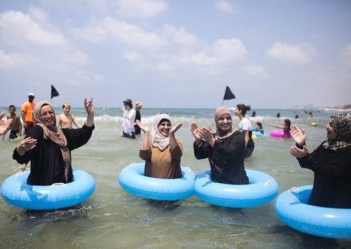 Palestinians from West Bank visit sea for the first time