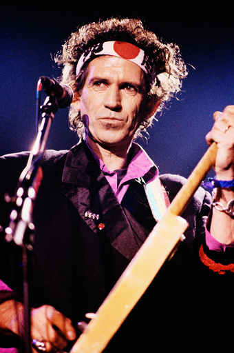 El guitarrista Keith Richards en concierto. Sala Zeleste, Barcelona. 1992.