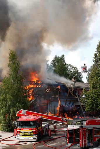 Brann pToppåsen skole i Oslo