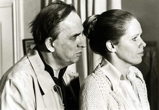 FACE TO FACE, Ingmar Bergman directing Liv Ullmann, 1976.