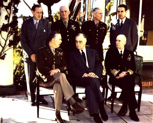 Konferenz v.Casablanca 1943 / Roosevelt und US-Delegation - Casablanca Conference,US Delegation,1943 -