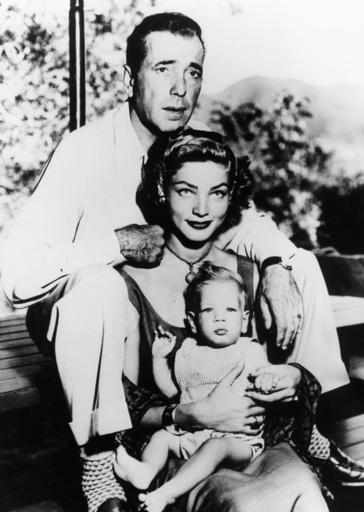H.Bogart mit L.Bacall u.Söhnchen / Foto - Bogart with L.Bacall & son / 1950 - Bogart with L.Bacall & son / 1950