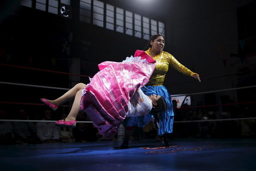 Bolivian wrestlers Mamani, nicknamed Martha
