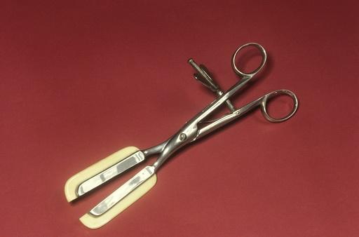 Haemorrhoid forceps, circa 1860