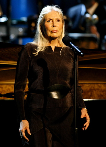 File photo of musician Joni Mitchell performs at the Thelonious Monk Institute of Jazz International Trumpet Competition and Herbie Hancock Tribute in Hollywood