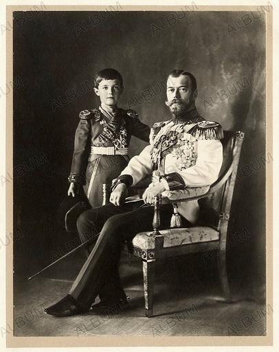 Tsar Nicholas II and Tsarevich Alexei.