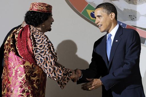 Muammar Gaddafi, Barack Obama