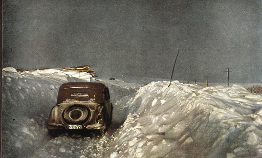 2.WK./Norwegen/Wehrmachtsauto im Schnee - German Army car in snow, Norway / 1941 -