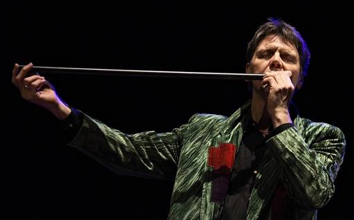 Steinar Ofsdal spiller på blåseinstrument på Barnas Konserthusfestival, Oslo.
