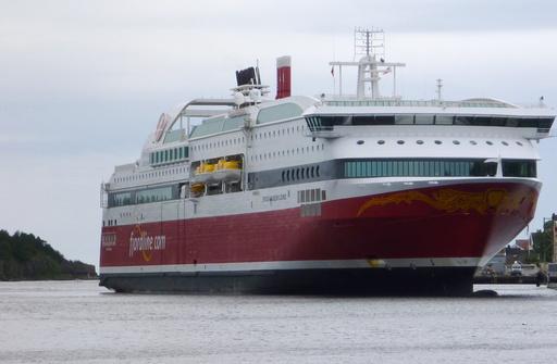 Fjordline sin passasjerferge Stavangerfjord på vei til å legge i land i Langesund i Telemark. Arkivfoto: Erik Johansen / NTB scanpix