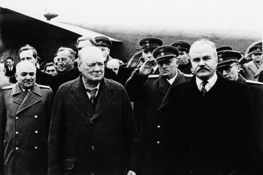 Treffen Churchill/Stalin in Moskau, 1944 - Churchill & Molotov / Moscow / 1944 -