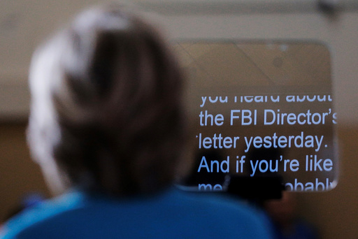 U.S. Democratic presidential nominee Hillary Clinton speaks about the FBI inquiry into her emails during a campaign rally in Daytona Beach