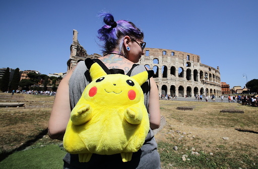 Pokemon Go Tour Official Rally in Rome - July 31 2016