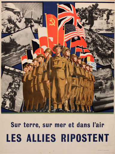 French wartime poster, The Allies Respond