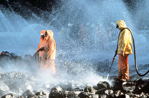 Exxon Valdez Oil Spill in Prince William Sound, Alaska