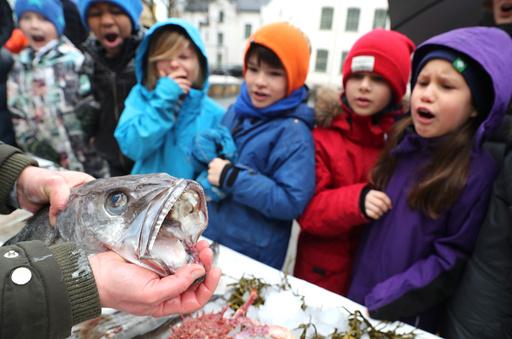 Fiskeinvasjon i storefri på Gamlebyen skole.