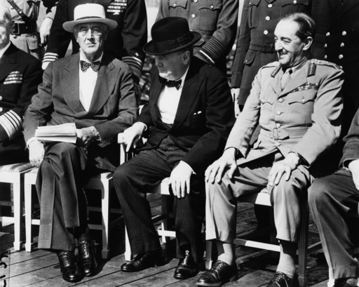 2. Konferenz von Quebec 1944 / Foto. - Churchill etc. / 2nd Quebec conference -