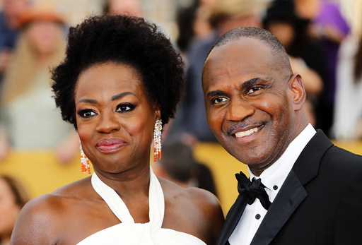 Viola Davis and Julius Tennon arrive at the 21st annual Screen Actors Guild Awards in Los Angeles