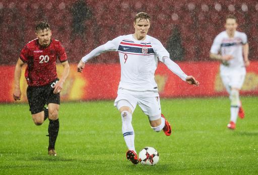 Fotball landskamp menn: Albania Norge (0-1) på Elbasan Arena.