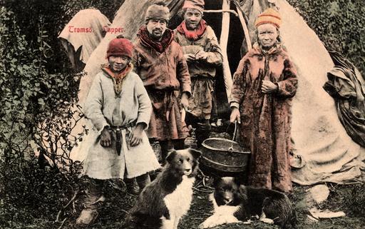 Lappen bei Tromsö / Fotopostk.um 1905 - Laplander near Tromso / Postcard / 1905 -