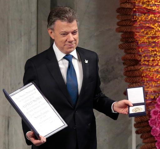 Nobels fredspris 2016 til Colombias president Juan Manuel Santos.