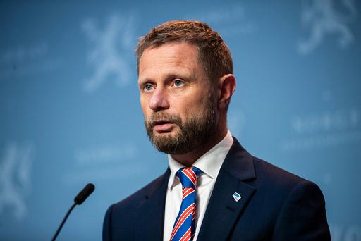 Oslo 20200923. Helseminister Bent Høie under onsdagens pressekonferanse om koronasituasjonen. Foto: Jil Yngland / NTB