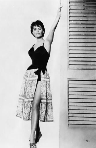Sophia Loren in 'Hausboot' - Sophia Loren in 'House Boat' - Sophia Loren dans 'La péniche du bonheur', 1958.