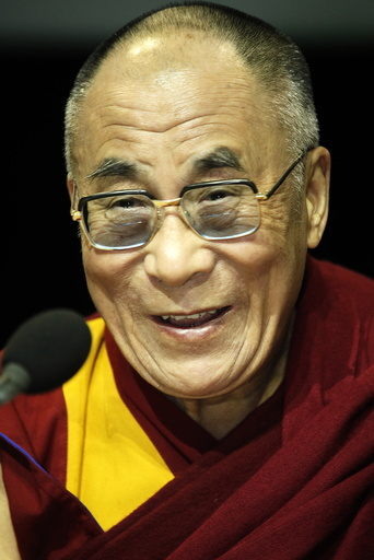The Dalai Lama in Paris-Bercy