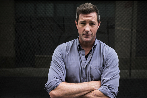 Ed Burns during a walking tour of several filming locations for the drama series