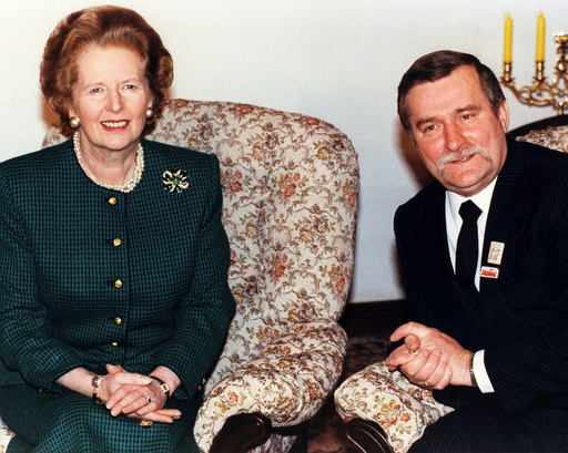 Margaret Thatcher, Lech Walesa