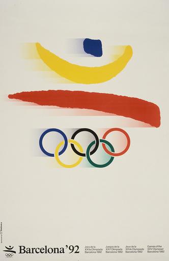 Sommerolympiade 1992, Barcelona/Plakat - Summer Olympics 1992, Barcelona / Poster - Sport / Jeux Olympiques.-XXVe Jeux Olympiques d'été à Barcel