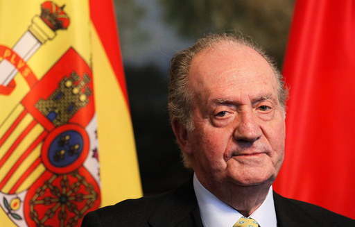 File photo of Spain's King Juan Carlos attending lunch in Berlin